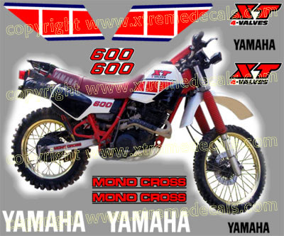 Yamaha XT600 1987 Decal Set