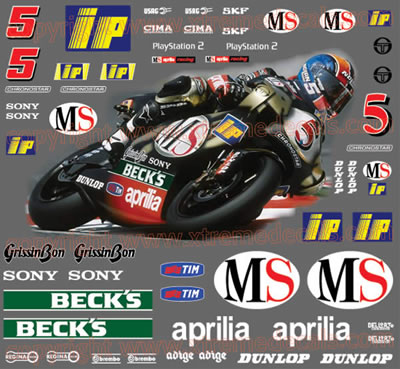 2001 Aprilia Racing MS 250 Race decal Kit