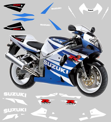 Suzuki GSXR 2001 Full decal and graphics kit