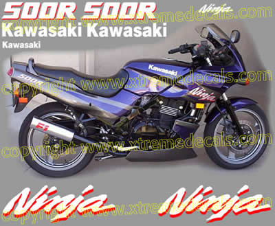 Kawasaki Ninja 500 R Decal set 2001 Model