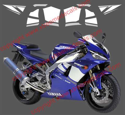Yamaha R1 Graphics set for 2001 blue bike