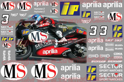 Aprilia RSV250 Race Decal Set