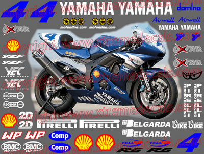 Yamaha Race Decal Set 2003 Belgarda YZF R6
