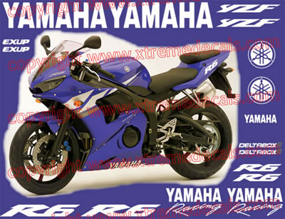 Yamaha R6 2003 Model Decal Set