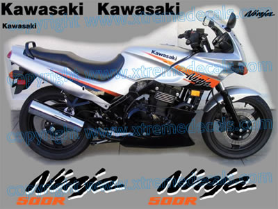 Kawasaki Ninja 500 R Decal set 2004 Model
