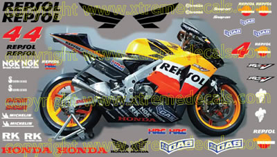 Honda Race Decal Set 2004 Repsol Kit