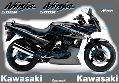 Kawasaki Ninja 500 R Decal set 2005 Model