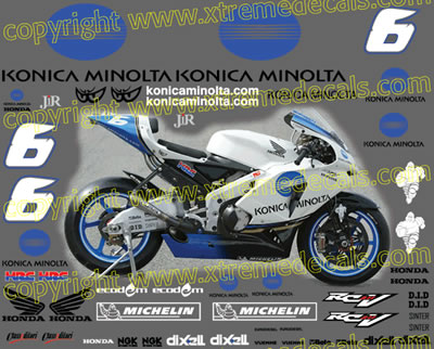 Honda Race Decal Set 2006 Konica Minolta