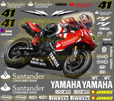 Yamaha Santander Race Decal Set 41 Decals Stickers