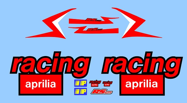 Aprilia RS125 Race Decal Set 2002