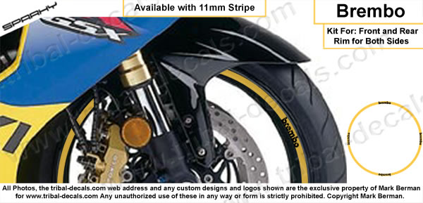 Wheel Rim Decal Kit Brembo