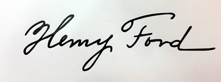 Henry Ford Signature decal