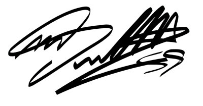 Single Marco Simoncelli Autograph Decal