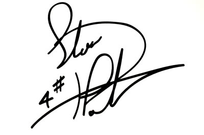 One Steve Plater Autograph Decal