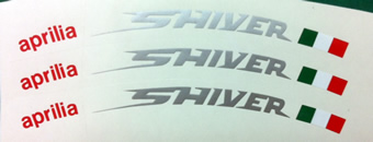 Aprilia Shiver Rim decal set