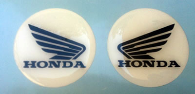 Honda Wing domed tank badges
