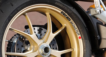 Ducati Monster Rim Decal set  2 Colour