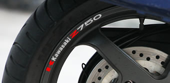Kawasaki Z750 Rim Decal set