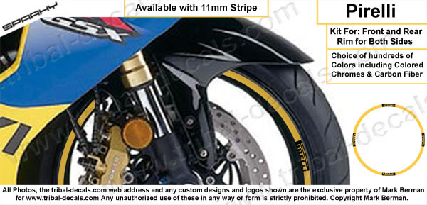 Wheel Rim Decal Kit Pirelli