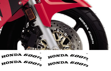Rim Decal set Honda  600F3