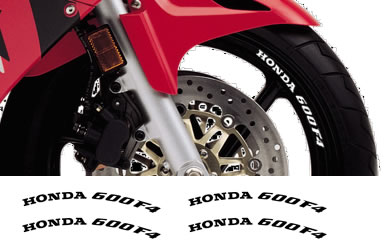Rim Decal set Honda 600F4