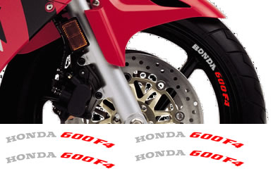 Rim Decal set Honda 600F4 2 Colour