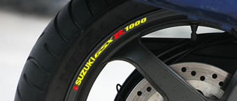 Suzuki GSXR 1000 Rim Decal set