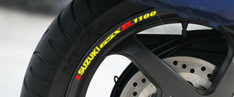Suzuki GSXR 1100 Rim Decal set