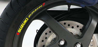 Suzuki Hayabusa Rim Decal set
