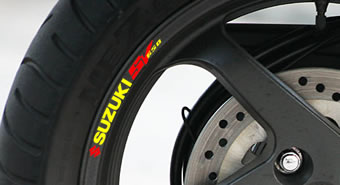 Suzuki SV650 Rim Decal set