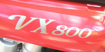 VX800 Decal for the Suzuki VX 800