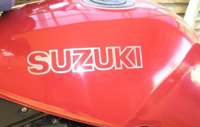VX800 Tank Decal for the Suzuki VX 800 1991 Model