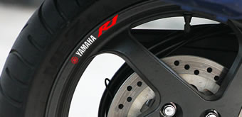 Yamaha YZF R1 Rim Decal set